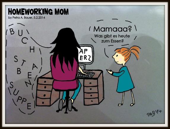 Buchstabensuppe. Cartoon auf mama-im-job.de von Petra A. Bauer.