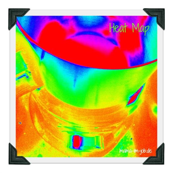 Erstmal Latte Macchiato. Heatmap unseres Milchaufschäumers.