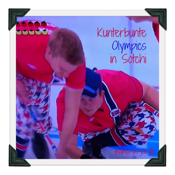 Kunterbunte Winterspiele in Sotchi. Hier das norwegische Team beim Curling.