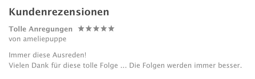 5 Sterne-Bewertung auf iTunes