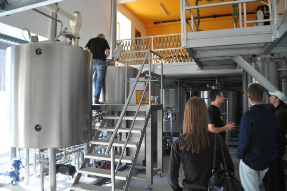 In der Stiär Biär Brauerei im Schweizer Kanton Uri