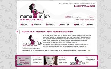 mama-im-job.de - Das Lifestylemagazin für berufstätige Mütter.