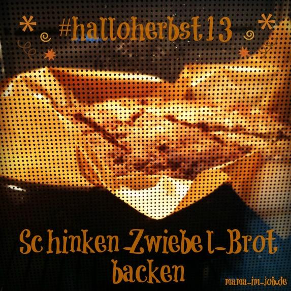 Schinken-Röstzwiebel-Brot im Ofen