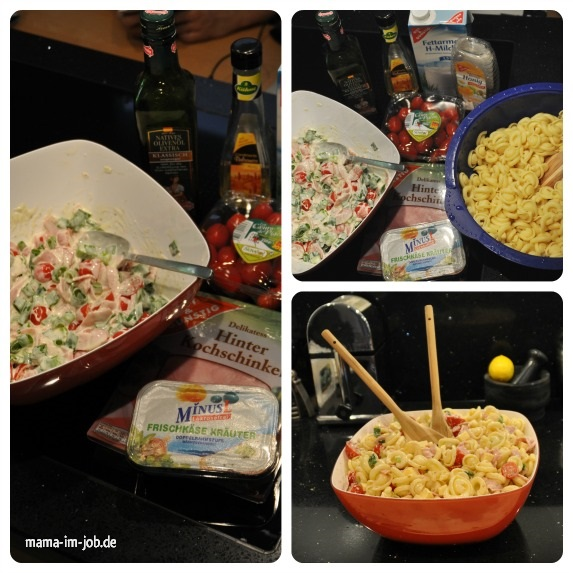Rezept für Schinken-Nudelsalat
