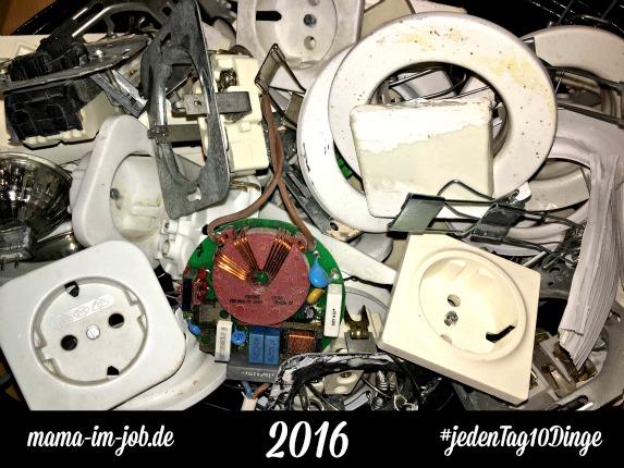 #jedenTag10Dinge ausmisten. 1. Tag: Elektroschrott