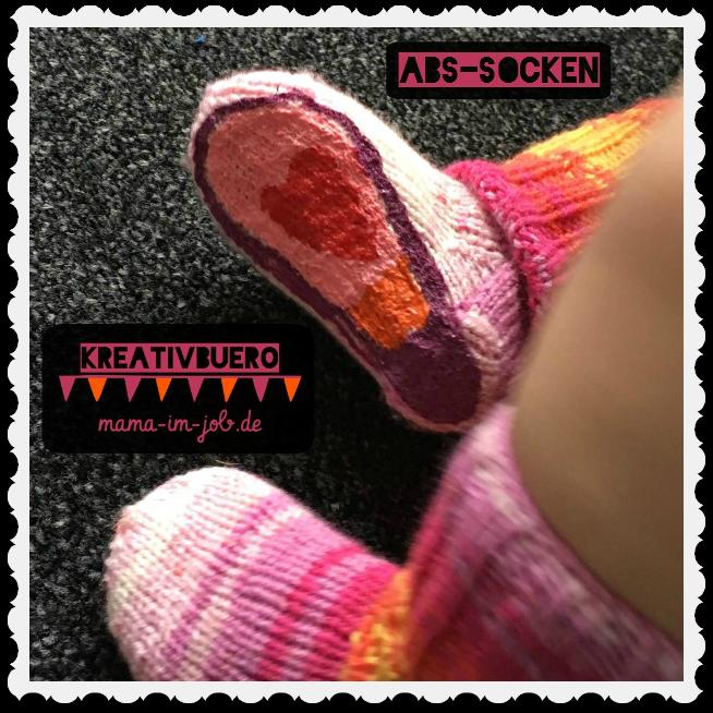 ABS-Socken, Stoppersocken, Anti-Rutsch-Socken selber machen. Realisation und Fotos: Petra A. Bauer 2016