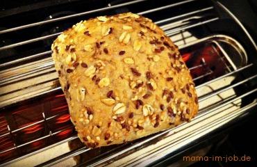 Brötchen toasten