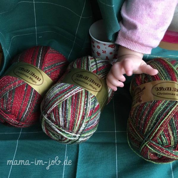 Christmas Magic Wolle mit Babytörtchen-Hand