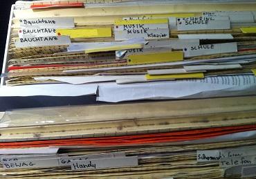 Meine alten Mappen im Classei-System.