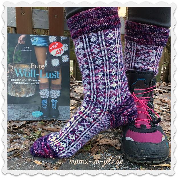 Die fertigen Fairisle Socken