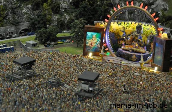 Festivalgelände im Miniatur Wunderland bei Tag