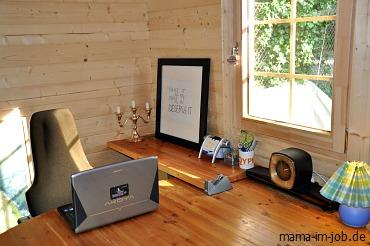 Das neue Büro von Bauer-Online-Productions, in dem auch Mama im Job entsteht.