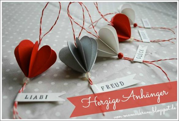 Herzanhänger zum Valentinstag