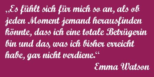 """Auch Emma Watson (""""Hermine Granger"""") leidet am Hochstapler-Syndrom."""