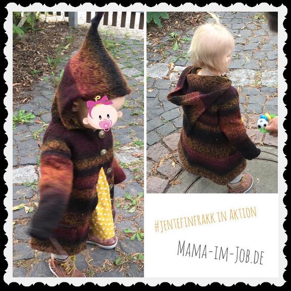 Dem Babytörtchen gefällt der #jentefinfrakk von mamaknit.no ausgesprochen gut. Fotos: Petra A. Bauer