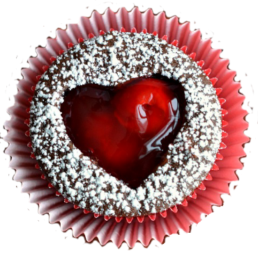 Muffin am Valentinstag