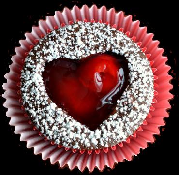 Muffin am Valentinstag