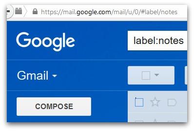 iPhone-Notizen werden automatisch an Gmail gesendet und sind unter label:notes zu finden.