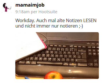 Notizen-Tweet