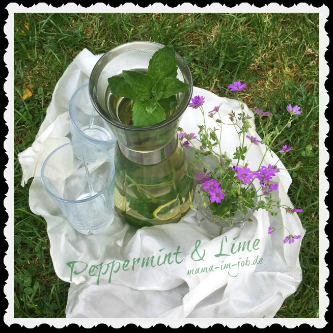 Tee aus Pfefferminze und Limette. Foto: Petra A. Bauer