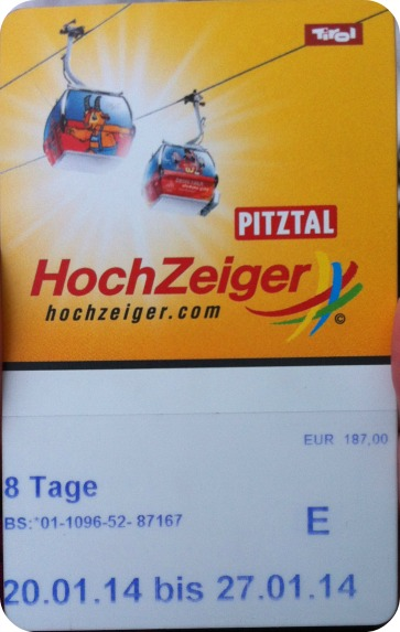 Skipass Hochzeiger