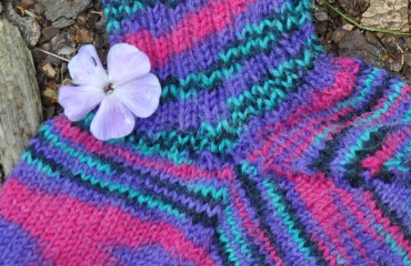 Bunte Stricksocken