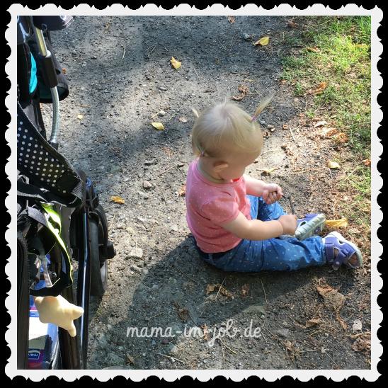 Spazierenstehen mit dem Babytörtchen