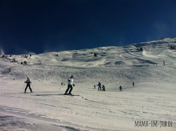 Skifahrer am Hochzeiger