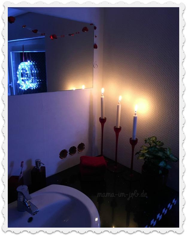 Waschtisch im neuen Bad an Heiligabend 2016
