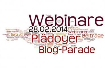 Blogparade als Plädoyer für Webinare | Webinare zur Fortbildung nutzen