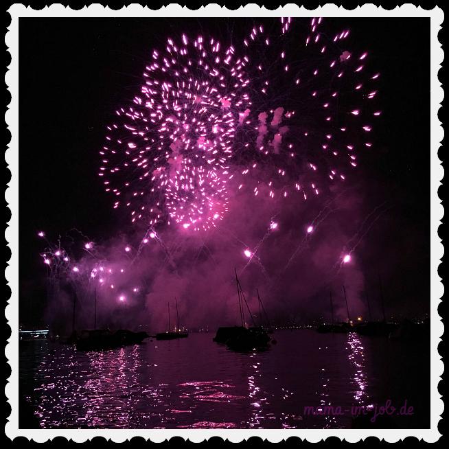 Feuerwerk beim Zürifäscht am Zürichsee. Foto: Petra A. Bauer 2016